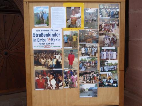 One of the information boards on the society's projects.
