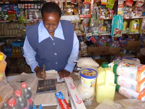 Purchase of staple food packet for supporting a family in need living in the Kenyan highlands.