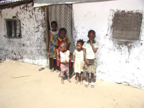 AIDS orphans who are living with their grandmother.